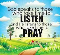 listen and pray