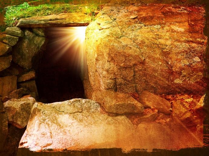 He is risen tomb
