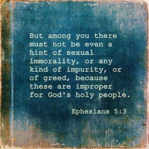 no hint of sexual immorality